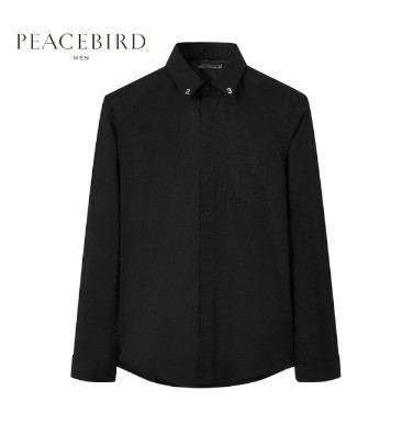 PEACEBIRD 太平鸟 男士修身长袖衬衫