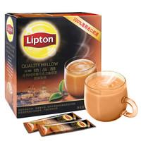 立頓(Lipton) 奶茶 絕品醇比利時風情巧克力味奶茶固體飲料 380g *8件