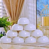 忠誠 純白飯碗 4.5英寸 10個裝
