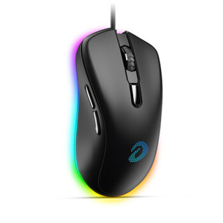 达尔优(dareu)EM908幻彩版鼠标 鼠标游戏 有线鼠标 电竞鼠标 笔记本鼠标  6400dpi 黑色
