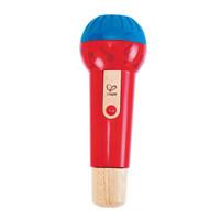 Hape回聲鳴音麥克風12個月以上嬰幼兒音樂玩具早教益智嬰幼玩具音樂玩具E0337 *6件