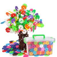 可愛布丁兒童玩具900片加厚雪花片益智玩具3-6歲玩具 男孩女孩拼插積木生日六一兒童節禮物 *2件