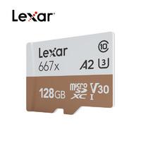 Lexar 雷克沙 667x microSDXC A2 UHS-I U3 TF存储卡 256GB