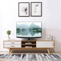 A家家具 電視柜 北歐簡約板木電視機柜 原木色 ADC-77(茶幾 電視柜 默認)