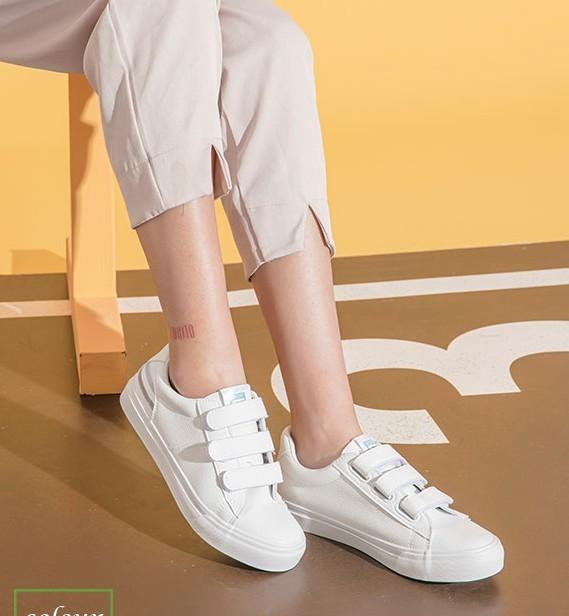 DUSTO 大东 DW19C7062A 女士平底小白鞋