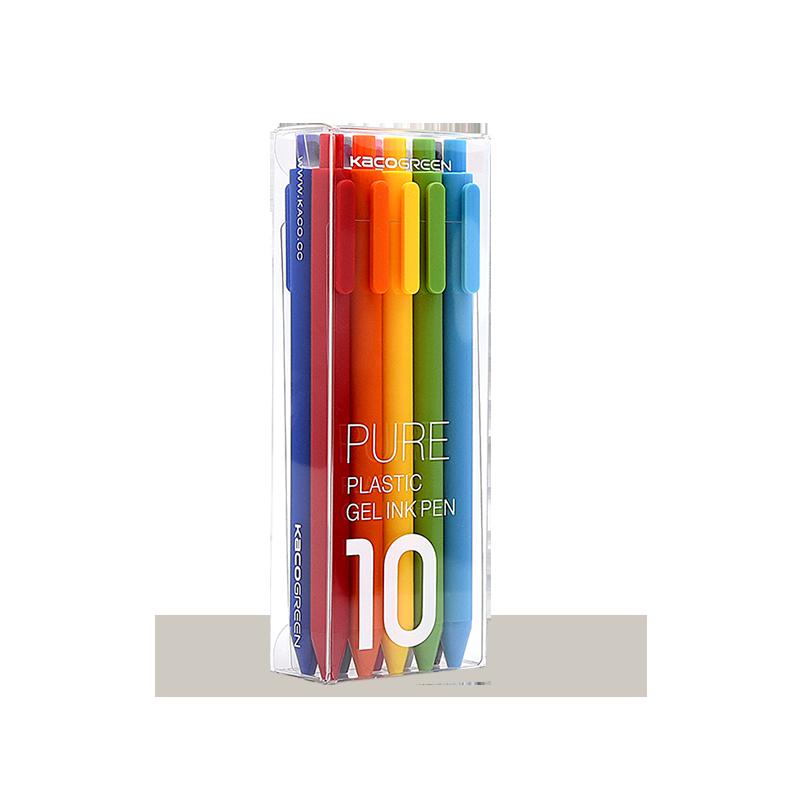 KACO 文采 PURE书源 彩色按动中性笔 10支/盒