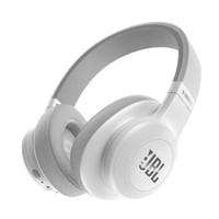 JBL E55BT 头戴式无线蓝牙耳机 音乐HIFI重低音 折叠带麦游戏耳机 白色