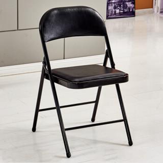 雅美乐 椅子 折叠椅 电脑椅 办公椅 沙发椅 学生椅 餐椅 黑色YZ101