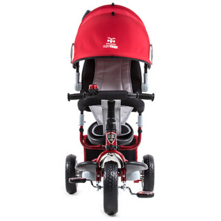 小虎子(little tiger)儿童三轮车脚踏车 免充气实心轮手推车 952/950-2带搁脚板 红色