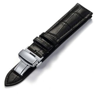 积优JEAYOU 真皮表带男 适用于天梭力洛克美度浪琴DW欧米茄手表配件表链19AZP04