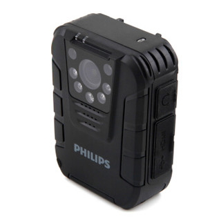 飞利浦(PHILIPS)VTR8100 执法取证 便携音视频 执法记录仪 1080P高清红外夜视摄像机 录音笔 拍照 一体机