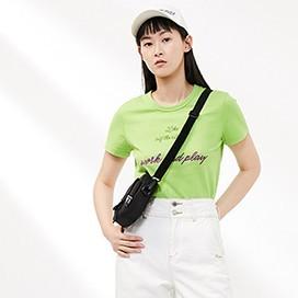 太平鸟 A8DA91402 女士纯棉打底T恤