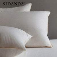 京东PLUS会员:SIDANDA 诗丹娜 立体三层鹅毛绒枕芯