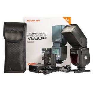 神牛(Godox)860II-S引闪器套装 二代机顶闪光灯外拍灯 锂电池热靴灯 V860ii热靴灯+X1T引闪器(索尼版)