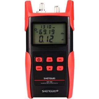 胜为(shengwei)高精度光功率计红光一体机 红光笔15公里光纤测试仪10mw光源光衰检测器检测仪器 OM-608