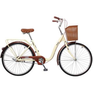 凤凰Phoenix自行车爱娃女式轻便成人城市学生通勤车 26寸单速优雅米