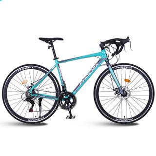 凤凰 Phoenix R79自行车变速铝合金公路车自行车男女学生成人14速越野公路赛车700C 比安奇绿