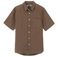 MUJI 無印良品 M8SC763 男士亞麻短袖襯衫