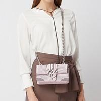 【限时特价】Pinko 品高 粉色条纹女包飞鸟包/燕子包/单肩斜挎包 1P21D2Y5FNNI1