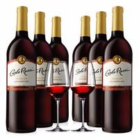 加州乐事 进口红酒 美国原瓶进口葡萄酒 整箱装 750ml*6 Blend308红葡萄酒