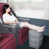 佳途(JOYTOUR)旅行按壓充氣腳墊飛機高鐵辦公室腳凳腳踏  按壓款灰色三層