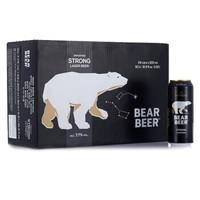 HARBOE 哈尔博 黑熊啤酒 500ml*24听 整箱装