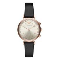 阿瑪尼(Emporio Armani)手表 第4代新款輕奢時尚商務歐美智能腕表 女士表石英細腕帶 京東自營 新品ART3027