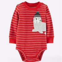 Carter's 婴儿长袖条纹哈衣 *5件