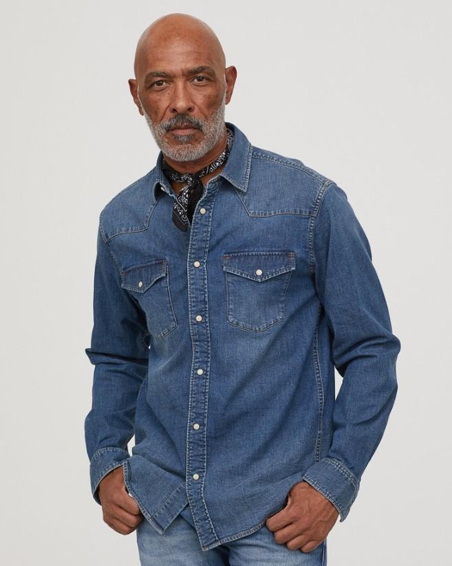 H&M  HM0686243 男士牛仔衬衫