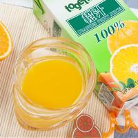 牽手 100%純橙汁1L*12盒果汁飲料新鮮不加糖健康果蔬汁整箱