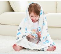 Disney迪士尼嬰兒泡泡棉紗浴巾6層紗寶寶純棉新生兒紗布浴巾柔軟