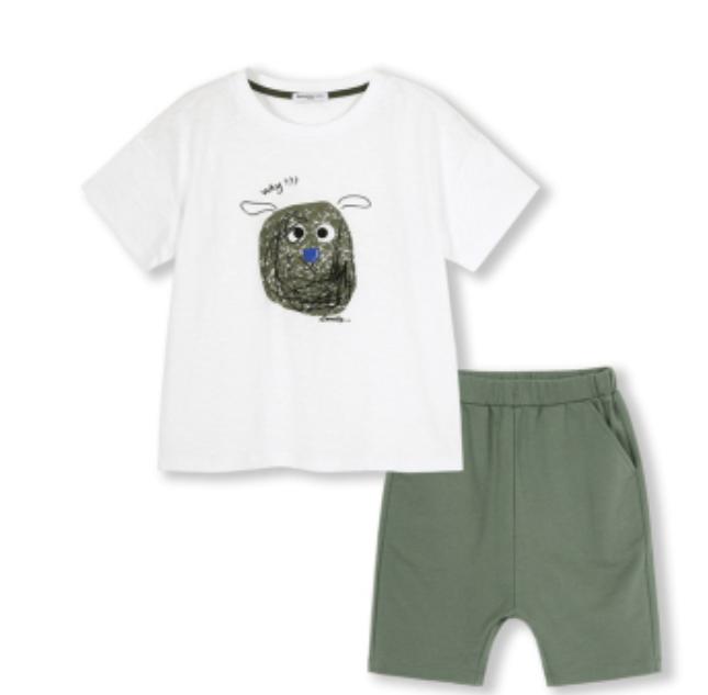 Balabala 巴拉巴拉 男童纯棉套装(T恤+短裤)