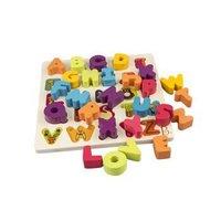 限地区:B.Toys 比乐  BX1269Z 木制字母积木 *3件