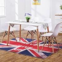 TIMI 天米 現代簡約餐桌椅組合( 1.4米餐桌+4把伊姆斯椅)