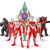 咸蛋超人 奧特曼兒童玩具男孩關節可動 超人-4超人+兩怪獸