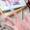100只一次性手套塑料餐飲美發手膜透明薄膜手套 100只
