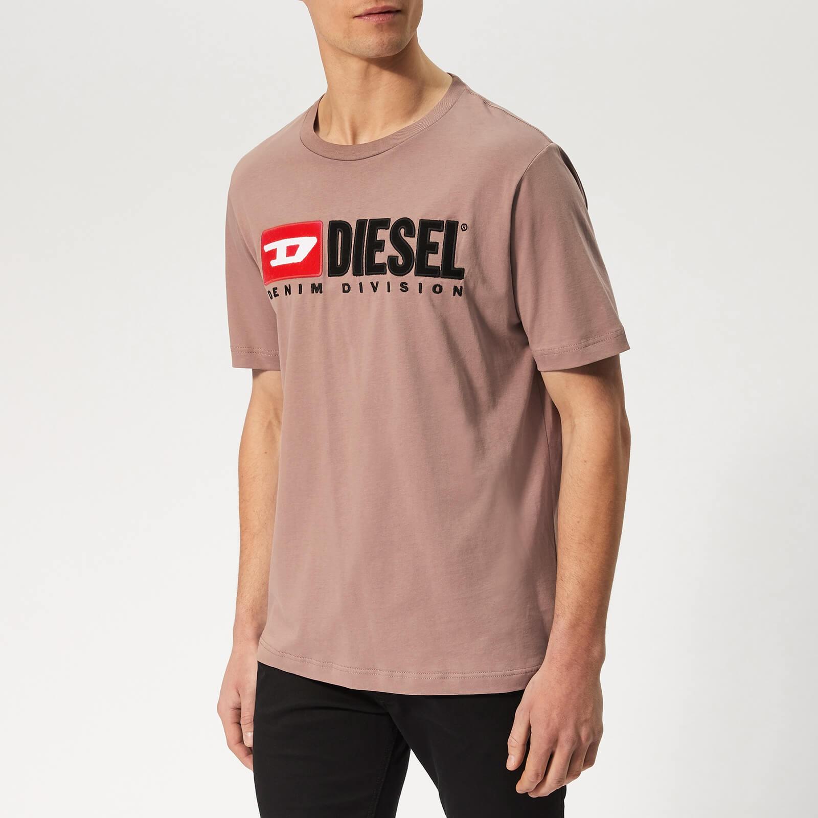 DIESEL 迪赛 Just Division 男款logo刺绣休闲T恤