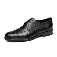 goldlion 金利來 男士正裝商務休閑皮鞋舒適輕便透氣502830498ADA-黑色-42碼