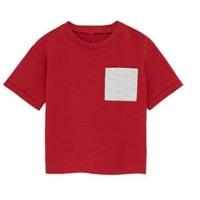 ZARA 03337410600 男童口袋基本款T恤