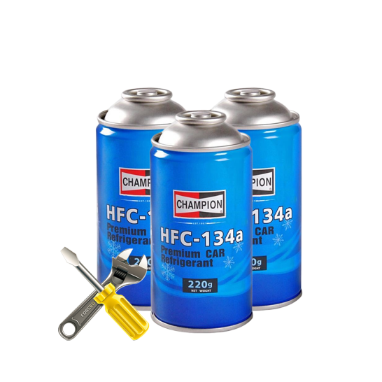 Champion 冠军 HFC-134a 环保雪种冷媒汽车空调制冷剂 220g*3瓶装  含工时