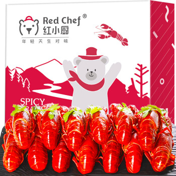 星农联合红小厨 麻辣小龙虾 750g 4-6钱/17-25只 净虾500g 海鲜水产