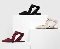 CHARLES&KEITH CK1-70900046 女士绑带尖头平底凉鞋