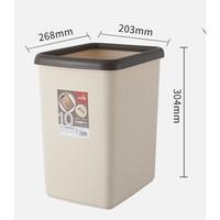 飞达三和 方形垃圾桶 10L+垃圾袋 1卷