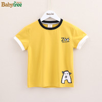 比比树童装男童短袖T恤2019夏装新款中大童儿童小学生男孩体恤衫
