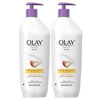 中亚Prime会员:OLAY 玉兰油 超保湿乳木果油身体乳 600ml 2瓶装 *2件
