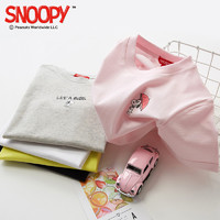 SNOOPY 史努比 100%棉儿童短袖T恤