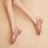 七面 女士舒適方根涼鞋