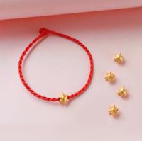 CEMNI 千年珠宝 足金六芒星 转运珠 单颗