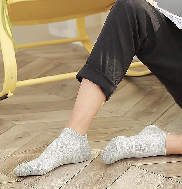 Miiow 猫人 8X21271 男士棉质短袜 5双装