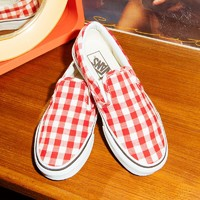 Vans范斯官方正品 新款Slip-On低帮女士运动帆布鞋
